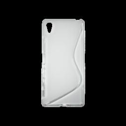 Sony Xperia X - Gumiran ovitek (TPU) - belo-prosojen SLine