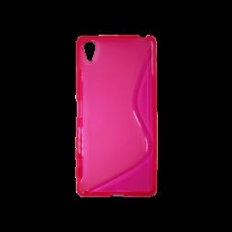 Sony Xperia X - Gumiran ovitek (TPU) - roza-prosojen SLine