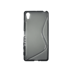 Sony Xperia X - Gumiran ovitek (TPU) - sivo-prosojen SLine