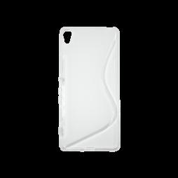 Sony Xperia XA - Gumiran ovitek (TPU) - belo-prosojen SLine