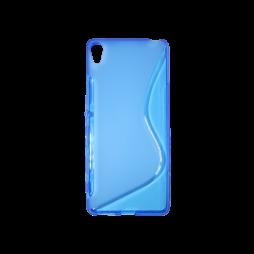 Sony Xperia XA - Gumiran ovitek (TPU) - modro-prosojen SLine