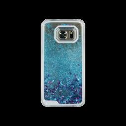 Samsung Galaxy S7 - Okrasni pokrovček (polnilo zvezdice) - modra