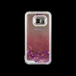 Samsung Galaxy S7 - Okrasni pokrovček (polnilo zvezdice) - roza