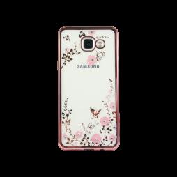 Samsung Galaxy A3 (2016) - Gumiran ovitek (TPUE) - roza rob - roza rožice
