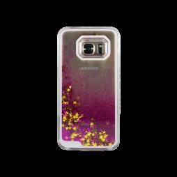 Samsung Galaxy S7 - Okrasni pokrovček (polnilo zvezdice) - temno roza