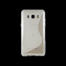 Samsung Galaxy J5 (2016) - Gumiran ovitek (TPU) - belo-prosojna SLine