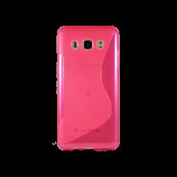 Samsung Galaxy J5 (2016) - Gumiran ovitek (TPU) - roza-prosojen SLine