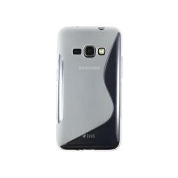 Samsung Galaxy J1 (2016) - Gumiran ovitek (TPU) - belo-prosojen SLine