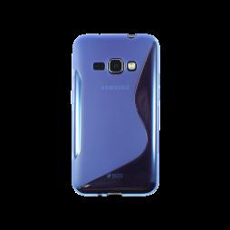 Samsung Galaxy J1 (2016) - Gumiran ovitek (TPU) - modro-prosojen SLine