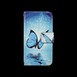 LG K4 - Preklopna torbica (WLGP) - Blue butterfly