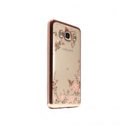 Samsung Galaxy J5 (2016) - Gumiran ovitek (TPUE) - roza rob - roza rožice