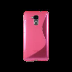 Huawei Honor 7 Lite/Honor 5C - Gumiran ovitek (TPU) - roza-prosojen SLine