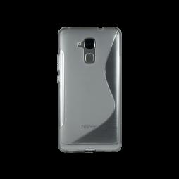 Huawei Honor 7 Lite/Honor 5C - Gumiran ovitek (TPU) - sivo-prosojen SLine