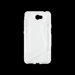 Huawei Y5 II (Honor 5)/Y6 II Compact - Gumiran ovitek (TPU) - belo-prosojen SLine