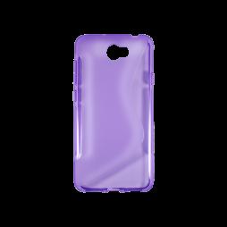 Huawei Y5 II (Honor 5)/Y6 II Compact - Gumiran ovitek (TPU) - vijolično-prosojen SLine