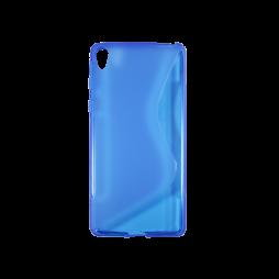 Sony Xperia E5 - Gumiran ovitek (TPU) - modro-prosojen SLine