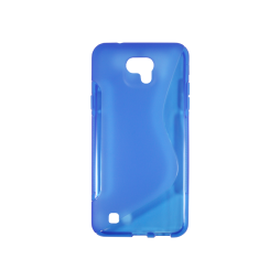 LG X cam - Gumiran ovitek (TPU) - modro-prosojen SLine