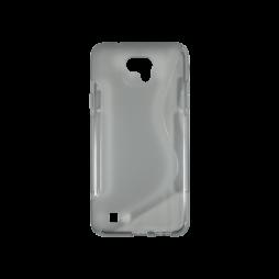 LG X cam - Gumiran ovitek (TPU) - sivo-prosojen SLine