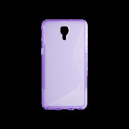 LG X screen - Gumiran ovitek (TPU) - vijolično-prosojen SLine