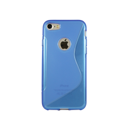 Apple iPhone 7/8 - Gumiran ovitek (TPU) - modro-prosojen SLine