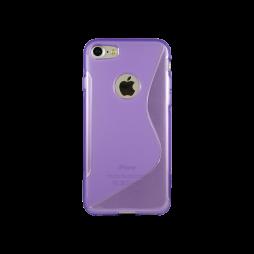 Apple iPhone 7/8 - Gumiran ovitek (TPU) - vijolično-prosojen SLine
