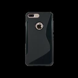 Apple iPhone 7 Plus/8 Plus - Gumiran ovitek (TPU) - črn SLine