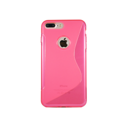 Apple iPhone 7 Plus/8 Plus - Gumiran ovitek (TPU) - roza-prosojen SLine