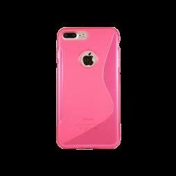 Apple iPhone 7 Plus/8 Plus - Gumiran ovitek (TPU) - roza-prosojen SLine