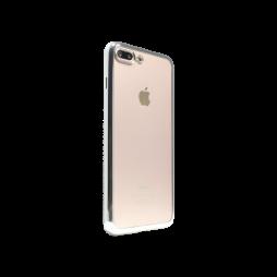 Apple iPhone 7 Plus/8 Plus - Gumiran ovitek (TPUE) - rob srebrn