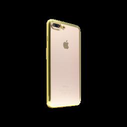 Apple iPhone 7 Plus/8 Plus - Gumiran ovitek (TPUE) - rob zlat