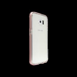 Samsung Galaxy S6 - Gumiran ovitek (TPU+ALU) - roza
