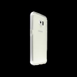 Samsung Galaxy S6 - Gumiran ovitek (TPU+ALU) - srebrn