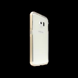 Samsung Galaxy S6 - Gumiran ovitek (TPU+ALU) - zlat