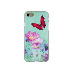 Apple iPhone 8/7/6/6S - Gumiran ovitek (TPUP) - Red Butterfly