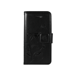 Apple iPhone 5/5S/SE - Preklopna torbica (WLGO) - črna