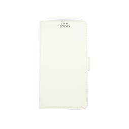Huawei Y6 Pro - Preklopna torbica (WLG) - bela