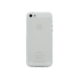 Apple iPhone 5/5S/SE - Gumiran ovitek (TPUM) - belo-prosojen mat