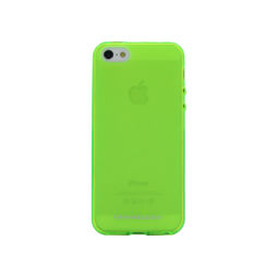 Apple iPhone 5/5S/SE - Gumiran ovitek (TPUM) - zeleno-prosojen mat