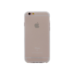 Apple iPhone 6/6S - Gumiran ovitek (TPUM) - belo-prosojen mat