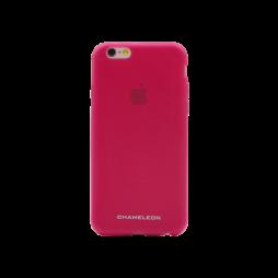 Apple iPhone 6/6S - Gumiran ovitek (TPUM) - roza-prosojen mat