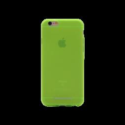 Apple iPhone 6/6S - Gumiran ovitek (TPUM) - zeleno-prosojen mat