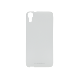 HTC Desire 825/10 Lifestyle - Gumiran ovitek (TPUM) - belo-prosojen mat