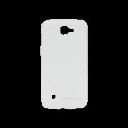 LG K4 - Gumiran ovitek (TPUM) - belo-prosojen mat