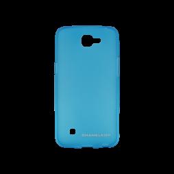 LG K4 - Gumiran ovitek (TPUM) - modro-prosojen mat