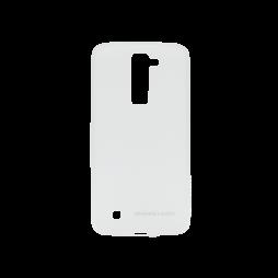 LG K8 - Gumiran ovitek (TPUM) - belo-prosojen mat