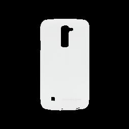 LG K10 - Gumiran ovitek (TPUM) - belo-prosojen mat