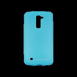 LG K10 - Gumiran ovitek (TPUM) - modro-prosojen mat
