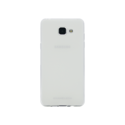 Samsung Galaxy A3 (2016) - Gumiran ovitek (TPUM) - belo-prosojen mat