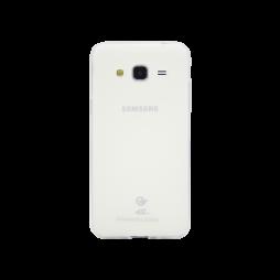 Samsung Galaxy J3 (2016) - Gumiran ovitek (TPUM) - belo-prosojen mat