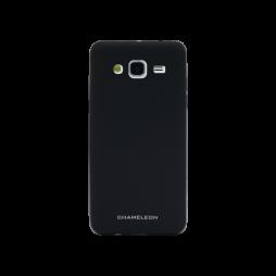 Samsung Galaxy J3 (2016) - Gumiran ovitek (TPUM) - črn mat